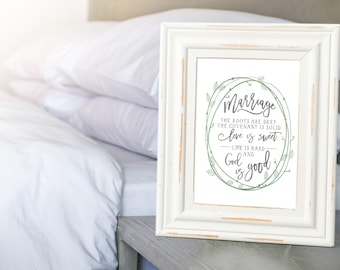 Marriage Art Print - Marriage Advice - 1st Anniversary - Anniversary Gifts - Gift For Couples - Marriage Sign - Marriage Quote Print