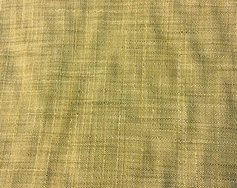 Gold Faux Silk Fabric - Golden Brown Faux Silk  - Raw Silk Look - Designer Fabric - Fabric by the Yard