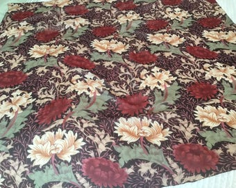 Vintage 80's Square Scarf Silk Florals Rich Colors Extra Large