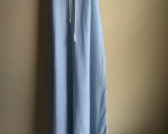 Baby blue and white stripe maxi dress 1970s