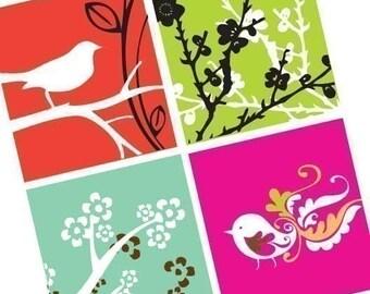 Spring Sensations - (1x1) One Inch (25mm) Pendant Images - Buy 2 Get 1 Free - Printable Digital Square Image Collage - Digital Squares