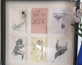 Disenchanted illustrations (5 designs)