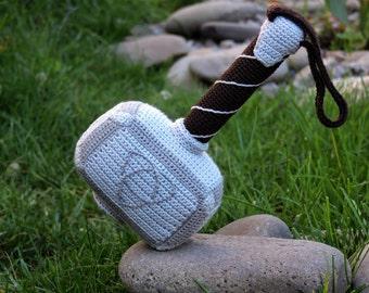 PATTERN: Crochet Hammer of Thor (PDF file)- amigurumi tutorial crochet pattern template knitting stuffed toy