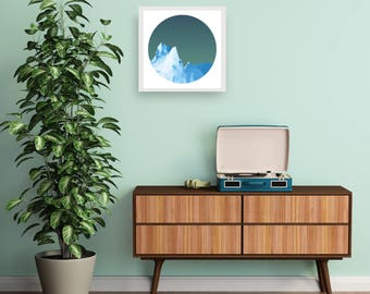ICEBOAT - Midnight - Art Fine Print - Giclee - Geometric Icebarg - Limited edition FREE Uk SHIPPING