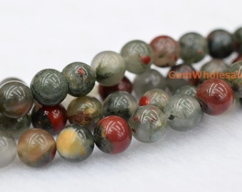 "15.5"" 6mm/8mm/10mm/12mm Africa blood jasper round beads, semi-precious stone, africa blood stone, gemstone wholesaler, multi color stone"