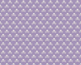 CLEARANCE Happy Haunting Purple Skulls: Riley Blake, One Yard.