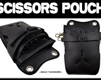 Hairdressers Bag/Pouch For Hair Scissors & combs Hold up to * 7 SCISSORS *