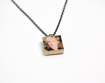 Upcycled Tasha Yar Necklace in Gunmetal - Star Trek TNG Necklace, Tasha Yar Jewelry, Star Trek Necklace, Star Trek Jewelry, Denise Crosby