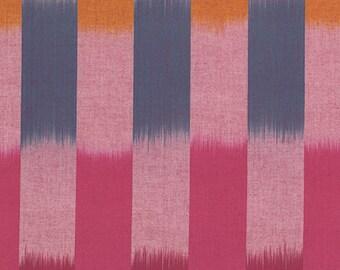 ART FABRIC - Kaffe Fassett, Ikat Stripe, Red, see coordinates, Free Spirit, pink, orange, multi