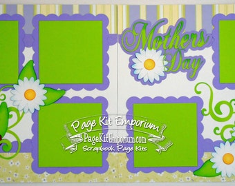 Scrapbook Page Kit Mother's Day 2 page Scrapbook Layout 122