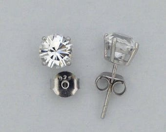 Swarovski Stone Stud Earrings 925 Sterling Silver