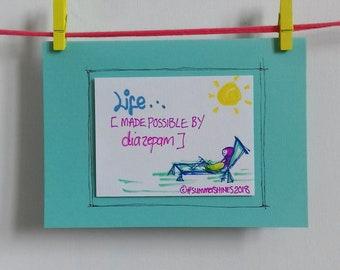 DIAZEPAM Greetings Card