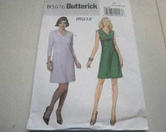 Pattern Women Dress 2 Styles Sizes 16 to 22 Butterick 5676 A