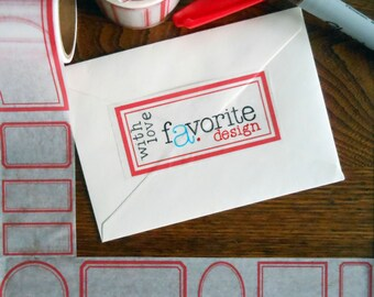 red border washi paper tape 8 different shapes & sizes holiday christmas everyday tags great for addressing envelopes fun labels