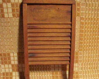 Antique Toy Wooden Washboard