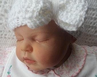 bow/large bow/Headband/Baby crochet headband/pack of 3/headwarmer/earwarmer/bow headband/baby headwarmer/baby turban style/modern/photo prop