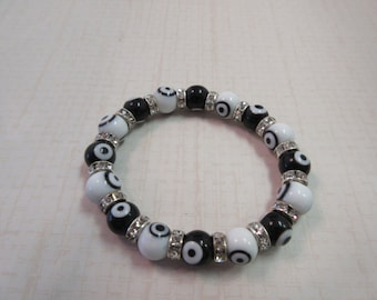 Black and White Evil Eye Bracelet.