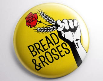 Bread and Roses 25mm (1 inch) button badge