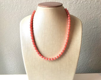 Coral Jewelry Set - necklace, bracelet, earrings, 3 piece set, coral bridesmaid, bridesmaid jewelry, coral wedding, coral necklace