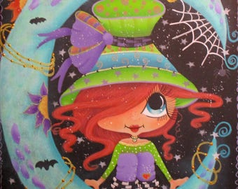 Halloween hp wooden plaque, Sherri Baldy