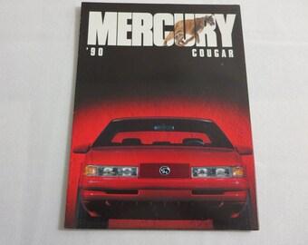 1990 Mercury Cougar Sales Brochure Catalog XR7 XR-7 LS