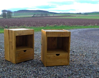 Bedside Unit, Cabinet, Nightstand, Table - Reclaimed Pallet Wood - Handmade Furniture