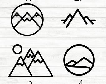 Mountain Decal - Adventure Decal - Jeep Decal - Adventure Awaits Decal - Hiking Decal - Laptop Decal - Mountains Decal - Camping