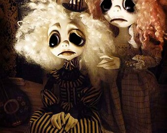 OOAK Gothic Art Doll - Halloween Art Doll - Creepy Cute - Fairy - Haunted Doll