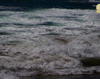 Midnight At Huntington Beach Pacific Ocean Photograph Prints up to 16x24, Postcards, Coffee Mug, Throw Pillow Christmas Gift