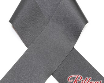 BLACK - 3 inch Grosgrain Ribbon  - 100% Polyester - 10 Yard Spool - Made in USA - Ideal for Cheer Bows