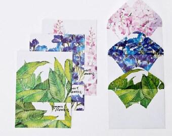 Floral Leafy Letter Writing Set Writing Paper Envelope Set