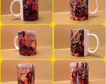 wizard of oz oil dorothy toto lion tin man scarecrow judy garland painting style mug cup personalised any name 11oz