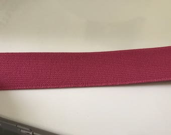 Pink elastic Ribbon 3 cm in width