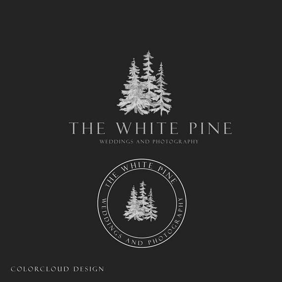 Minimalist Pine Tree: Forest Logo Design Premade Logo Pine Tree Logo Minimalist Logo