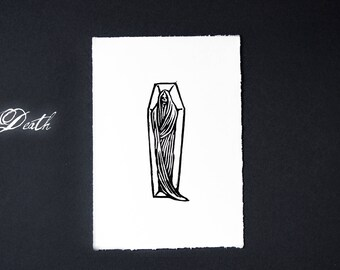 Death linocut