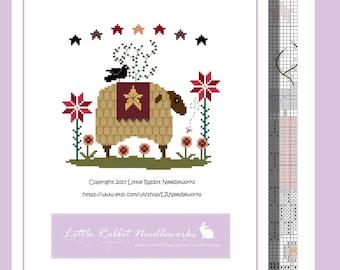 Baa Baa Sheep - Primitive Cross Stitch PATTERN PDF download