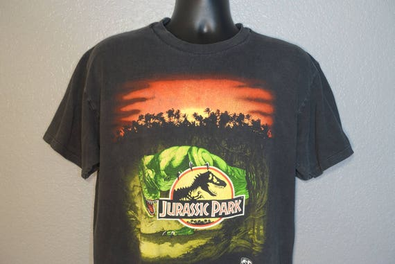 1993 Jurassic Park - Sunset T. Rex Vintage T-Shirt