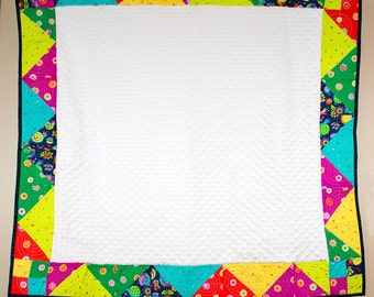Quilted Crib/Baby Blanket