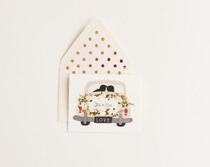 Mr & Mrs Card Vintage Getaway Car