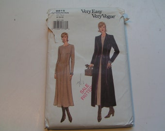 Vintage Vogue 8815 very easy Miss Duster and Dress