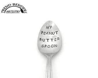 Birthday Gifts For Him, My Peanut Butter Spoon, Hand Stamped Spoon, Unique Birthday Gifts For Her, For Kids, Anniversary Gifts For Boyfriend