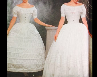 Vintage Fashion Historian Martha McCain Civil War Era Hoop Skirt Crinoline Petticoat  Sewing Pattern 9764 6 8 10 12