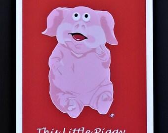 Ce petit cochon cartes postales (Pack de 2)