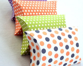 Mod Dots Halloween Printable Pillow Boxes Set of 4