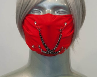 Red J-Rock Surgical Mask