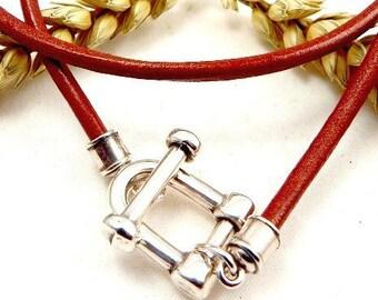3 clasps Manila toogle silver plated high quality bracelets