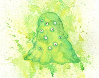Ectoplasm - A4 Original - Drawlloween 2017
