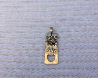 Be my love brass pendant jewelry.