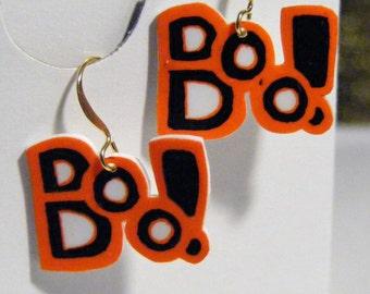 Shrink Plastic 'boo' earrings