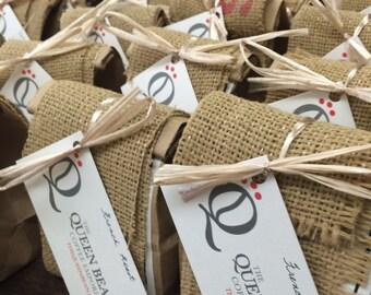 Handmade coffee favors